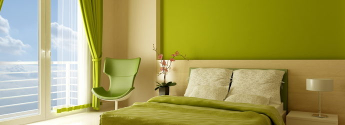 Зеленые комнаты