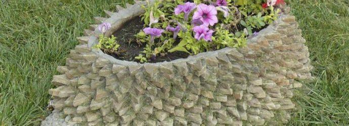 Оригинальные клумбы: используем подручные средства для выращивания цветов